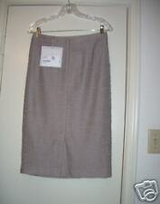 St John Sz 4 Knit Beiges Multi Skirt NWT Couture, textured