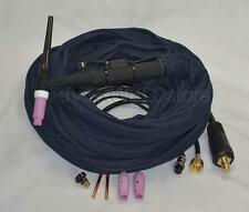 WP-26FV-25R 25' 200Amp Air-Cooled TIG Welding Torch Flexible & Gas-Valve Control