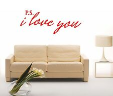 Wall Stickers Vinyl Decal Quote I Love You Romance ig1404