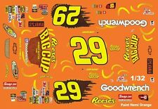 #29 Kevin Harvick Reese's Big Cup 2005 1/32nd Scale Slot Car Waterslide Decals