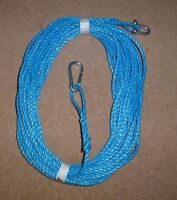 150FT OF NEW 8MM ROPE BLUE - ANCHOR BOAT MOORING WITH SNAP HOOK and d shackle .b