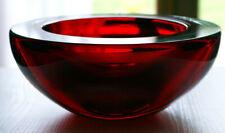 Coupe / Cendrier / vide-poche en verre très épais signé De Majo Murano
