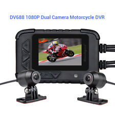 DV688 Waterproof Motorcycle Bike Sport Recorder DVR Dashcam HD 1080P Dual Lens