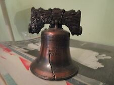 Quality vintage copper small handheld American Usa Liberty Bell replica Lotlud