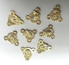 30pcs gold color religious 3holes connector EF2313-G