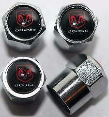 Car Logo Auto Tire Valve Stem Cap for Dodge Challenger Charger Viper Journey SUV
