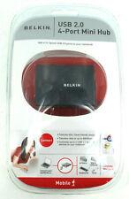 New BELKIN USB 2.0 4-PORT Mini Hub P47182 Multi Use Mobile Travel F5U215VMOB