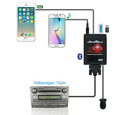 Bluetooth Car USB/Aux Adapter Carstream Hands Free Interface For A3 A4 VW 12Pin