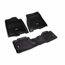 Black Floor Liner Kit 07 To 13 Chevrolet GMC Silverado Sierra Crew Cab 82989.01