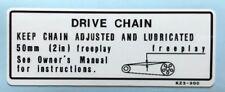HONDA CR80 CR85 CR125R CR250R DRIVE CHAIN CAUTION WARNING DECAL