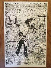 Walking dead #150 variant line art imprimé 11 x 17 signé par tony moore!