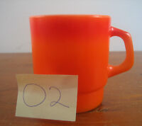 Vintage Fire King Orange Anchor Hocking Coffee Mug Mugs Cup 02