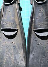 Xlt Vintage 50s-60s Cressi Rondine GigaИTe Swim Fins Size 11-13 Healthways Scuba