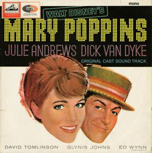 Various - Walt Disney's Mary Poppins: Original Cast Sound Track (LP, Album, Mono