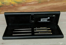 Vintage MONTBLANC Slimline Titanium Ballpoint Pen, Pencil, and Fountain Pen Set