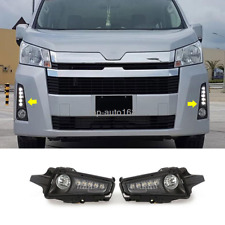 LED Daytime Running Lights / Halogen Front Fog Lights For Toyota Hiace 2019-2020