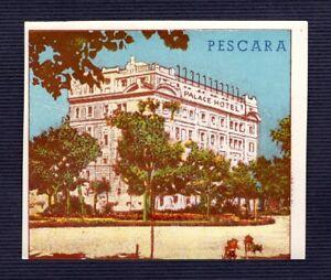 ein alter Kofferaufkleber Hotel label  PALACE  HOTEL  Pescara