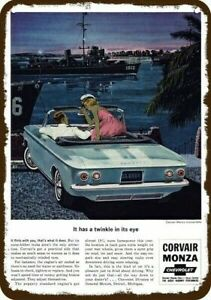 1960 Chevrolet Corvair Vintage Look Reproduction 2 Metal Sign