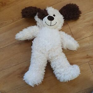 """Card Factory Dog Puppy Pup Patch Brown Cream Snuggle Fluffs Soft Toy Plush 12"""""""