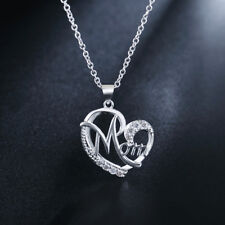 925 sterling Silver Heart Necklace Jewelry noble Fashion women crystal lady gift