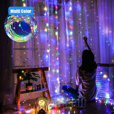100LED Party Wedding Curtain Fairy Lights USB String Light Home w/Remote Control