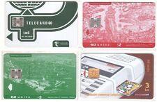 Malte - Chip Phonecards Maltacom - 4 cartes diverses Lot 3 - Usagées Voir état