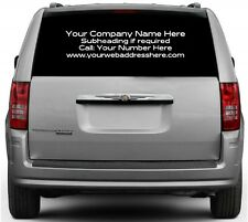 Rear Window Custom Car Vinyl Graphics Sticker Decal  - BUSINESS ADVERTISING