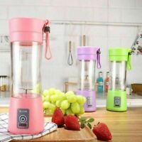 380ml Mini USB Rechargeable Electric Juicer Smoothie Bottle Fruit Blender Mixer