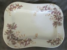 F1 Antique Pottery Ls & S - Ceramic Platter - Purple Thistle