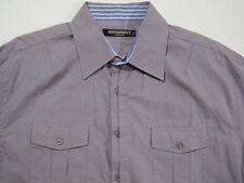 Dragonfly by Edward Dada LS Button Front Shirt Contrast Flip Cuffs size XL