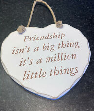 Heart Shaped Freindship Quote Shabby Chic