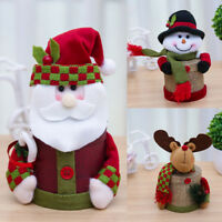 LN_ SANTA CLAUS SNOWMAN DEER CHRISTMAS XMAS EVE GIFT CANDY BOX CAN CONTAINER N