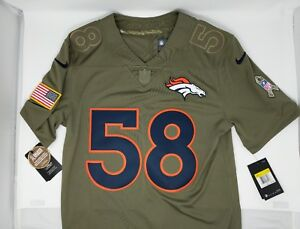 Nike STITCHED #58 Von Miller Salute to Service Broncos Football Jersey NWT $160