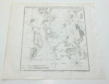 1841 George W. Blunt American Coast Pilot RI Newport Harbor Nautical Chart