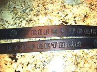 "1 1/2 "" Black Belt Hand Tooled Custom Leather Chopper Biker USA"