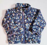 Patagonia Kids Toddler Floral Print Puffy Duck Down Full Zip Jacket! Size 6-12 M