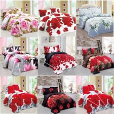 3D Duvet/Quilt Cover Bedding Sets + Pillow Cases Floral Flower Printed Half set