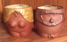 Vintage Pair Adam And Eve Anatomically Correct Mugs Blue MIJ Label VGUC MCM