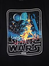 Star Wars Vans Mens T Shirt Size Small Black A New Hope Graphic Short Sleeve