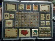 Holiday Message 58 Piece Rubber Stamp Set W/ 8 Stamp Pads & Brush Marker Set