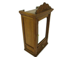 Kitchen Apothecary Bathroom Cabinet Beveled Glass Mirror Hand Carved Oak Flowers