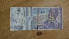 ROMANIA 5000 LEI BANK NOTES 1993