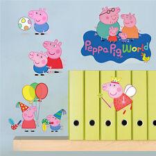 Peppa Pig World Art Wall Sticker Kids Art Decals Size 60x45cm