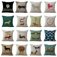 Dachshund Teckel Pillow case Funny Dog Cuddly Cushion Cover Pillow Home Decor