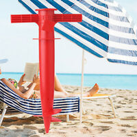 Adjustable Sun Beach Umbrella Stand  Fishing  Parasol Ground Anchor Holder Kw