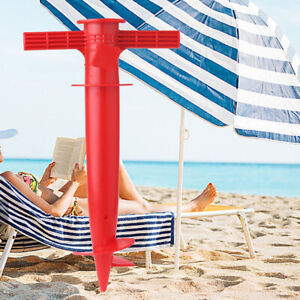 1PC Adjustable Sun Beach Umbrella Stand  Fishing  Parasol Ground Anchor Holder~
