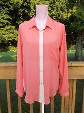 Velvet by Graham & Spencer Orland Blouse Top NWT $165 Coral Nude Small Shopbop