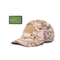 Tactical Baseball Hat Army Cool Boy Operator Camo Print Cap With Patriotic Patch