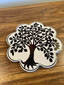 Trivet Turkish Ceramic Kitchen Hot Plate Trivet - Olive tree