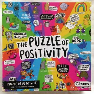 Brand New Gibsons 1000 Piece Jigsaw Puzzle - THE PUZZLE OF POSITIVITY